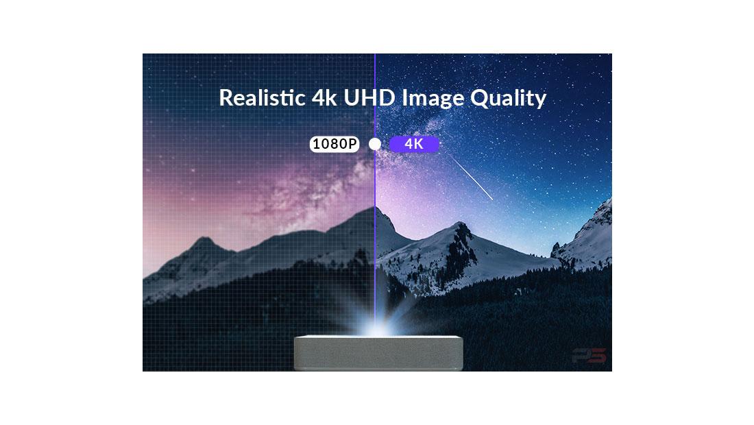 ویدئو پروژکتور 4k در مقابل 1080p